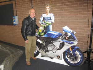 Colin with Rossi Cutout